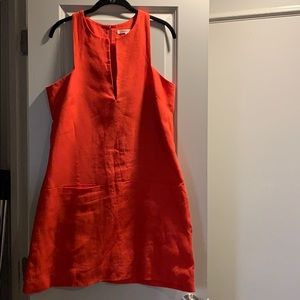 Emerson Fry Coral Linen Dress- Like New